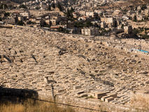 Alte jüdische Gräber auf dem Ölberg in Jerusalem, Stockbild