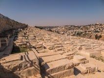 Alte jüdische Gräber auf dem Ölberg in Jerusalem Lizenzfreie Stockbilder