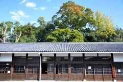 Alte japanische Architektur an Nijo Schloss Stockbilder