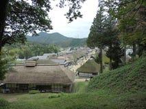 Alte japanische Häuser bei Ouchijuku in Japan lizenzfreies stockbild