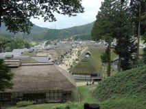 Alte japanische Häuser bei Ouchijuku in Japan lizenzfreies stockfoto