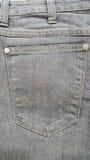 Alte Jeans des Gewebes stecken schwarze graue Farbe, Beschaffenheit ein stockfotografie