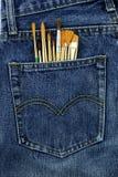 Alte Jeans setzten Ihre Gesäßtasche Lizenzfreie Stockbilder