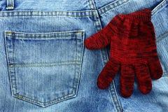 Alte Jeans setzten Ihre Gesäßtasche Stockfotos