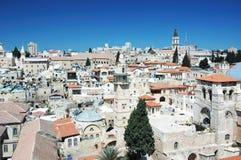 Alte Jerusalem-Ansicht vom Redeemer 's-Kirche Lizenzfreie Stockfotografie