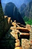 Alte Jobstepps von Machu Picchu lizenzfreies stockbild