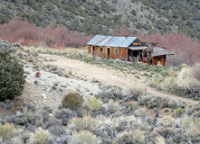 Alte Kabine nahe meinen, Nevada Lizenzfreie Stockfotos