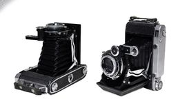 Alte Kamera der Weinlese stockfotografie