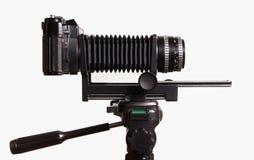 Alte Kamera mit Extension Stockfotos
