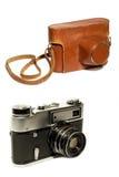 Alte Kamera und Fall Stockfotos
