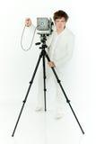 Alte Kamera und Fotograf Lizenzfreies Stockfoto