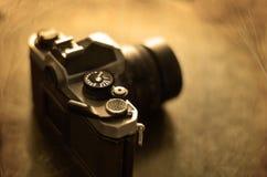 Alte Kamera und Linse für Fotografie Lizenzfreies Stockfoto