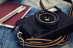 Alte Kamera, Weinlesekamera filmt populäres in der Vergangenheit Stockfoto