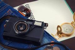 Alte Kamera, Weinlesekamera filmt populäres in der Vergangenheit Lizenzfreies Stockfoto