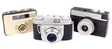 Alte Kameras Lizenzfreie Stockfotos