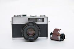 Alte Kameras und Film Lizenzfreie Stockfotografie