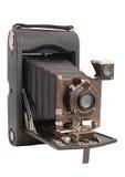 Alte Kameraweinlese lokalisiert auf einem weißen Hintergrund stockbild