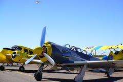 Alte Kampfflugzeuge Stockfotografie