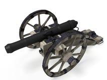 Alte Kanone 3D Stockfotografie