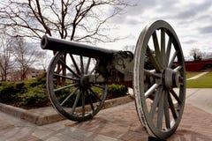 Alte Kanone in der alten Stadt Manassas, Virginia lizenzfreies stockfoto