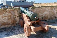 Alte Kanone in der Festung in Essaouira marokko Lizenzfreies Stockfoto