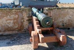 Alte Kanone in der Festung in Essaouira marokko Lizenzfreie Stockbilder