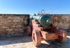 Alte Kanone in der Festung in Essaouira marokko Stockbilder