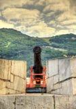 Alte Kanone an der orange Bastion in Gibraltar Lizenzfreie Stockfotografie