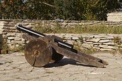 Alte Kanone in einer mittelalterlichen Zitadelle lizenzfreie stockfotografie