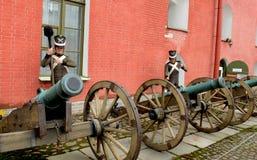 Alte Kanonen Stockfoto