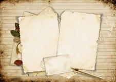 Alte Karte auf Weinlesehintergrund lizenzfreie abbildung