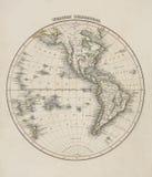 Alte Karte der Welt Stockbilder