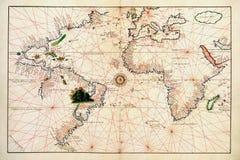 Alte Karte der Welt Lizenzfreies Stockbild