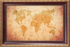Alte Karte der Welt Lizenzfreies Stockfoto