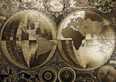 Alte Karte der Welt Stockfotos