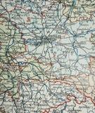 Alte Karte des Berlin-Bereiches lizenzfreies stockbild