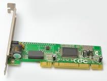 Alte Karte des Ethernet-Netzwerkes von der Seite Lizenzfreie Stockfotografie