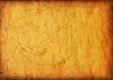Alte Karte mit einem Kompaß Stockfotografie