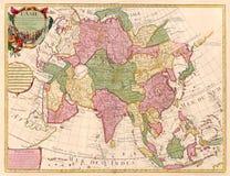 Alte Karte von Asien Lizenzfreie Stockfotografie