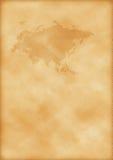 Alte Karte von Europa und von Asien Stockbild