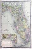 Alte Karte von Florida Lizenzfreies Stockbild