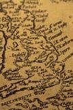 Alte Karte von Großbritannien Lizenzfreie Stockfotos