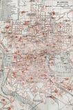 Alte Karte von Madrid Lizenzfreie Stockfotografie