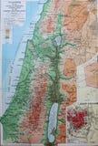 Alte Karte 1945 von Palästina, Mittlere Osten stock abbildung