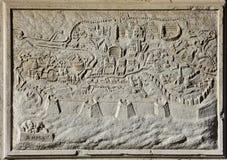 Alte Karte von Rom, die ewige Stadt Stockbilder