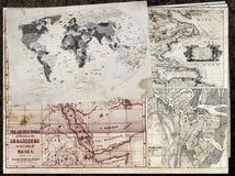 Alte Karten Stockbild