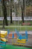 Alte Karussellanziehungskraft im Park Stockfotos