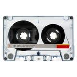 Alte Kassette getrennt auf Weiß Stockfotografie