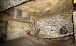 Alte Katakomben Odessa Stockbild