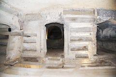 Alte Katakomben wo, sobald San Gennaro begraben wurde lizenzfreies stockfoto
